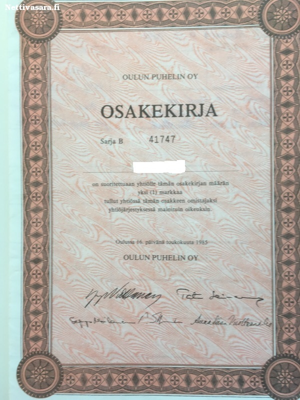 Oulun Puhelin Osake